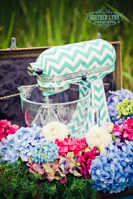 Custom KitchenAid Mixer featured by top US life and style blog, DYNES DESIGNS: Beautiful hand painted Kitchen Aid mixer